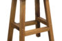 barnwood barstool leather seat
