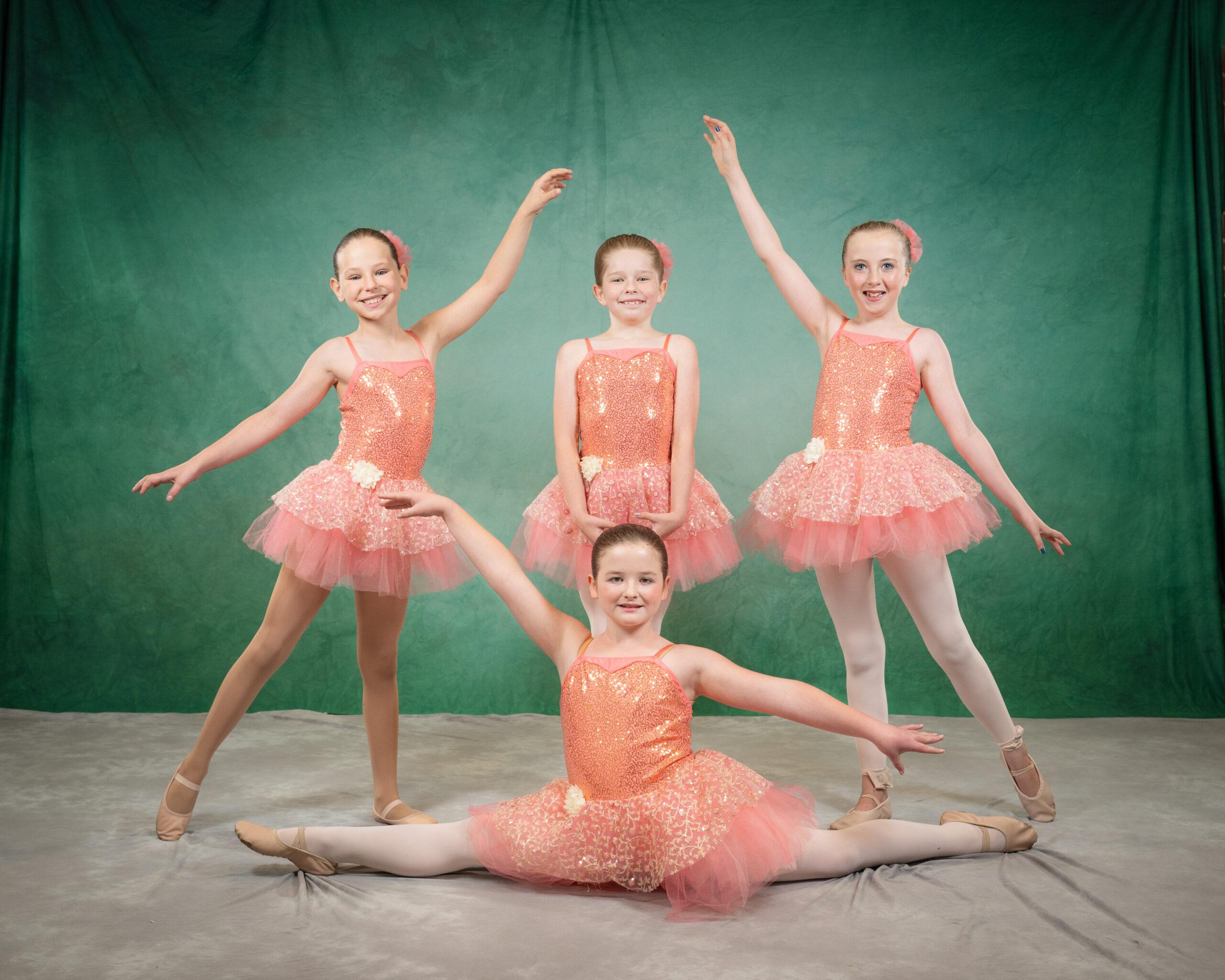 ballet dancer standing in attitude