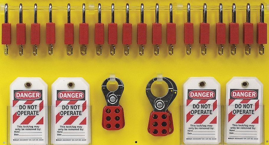 Proper lockout tagout (LOTO) procedures