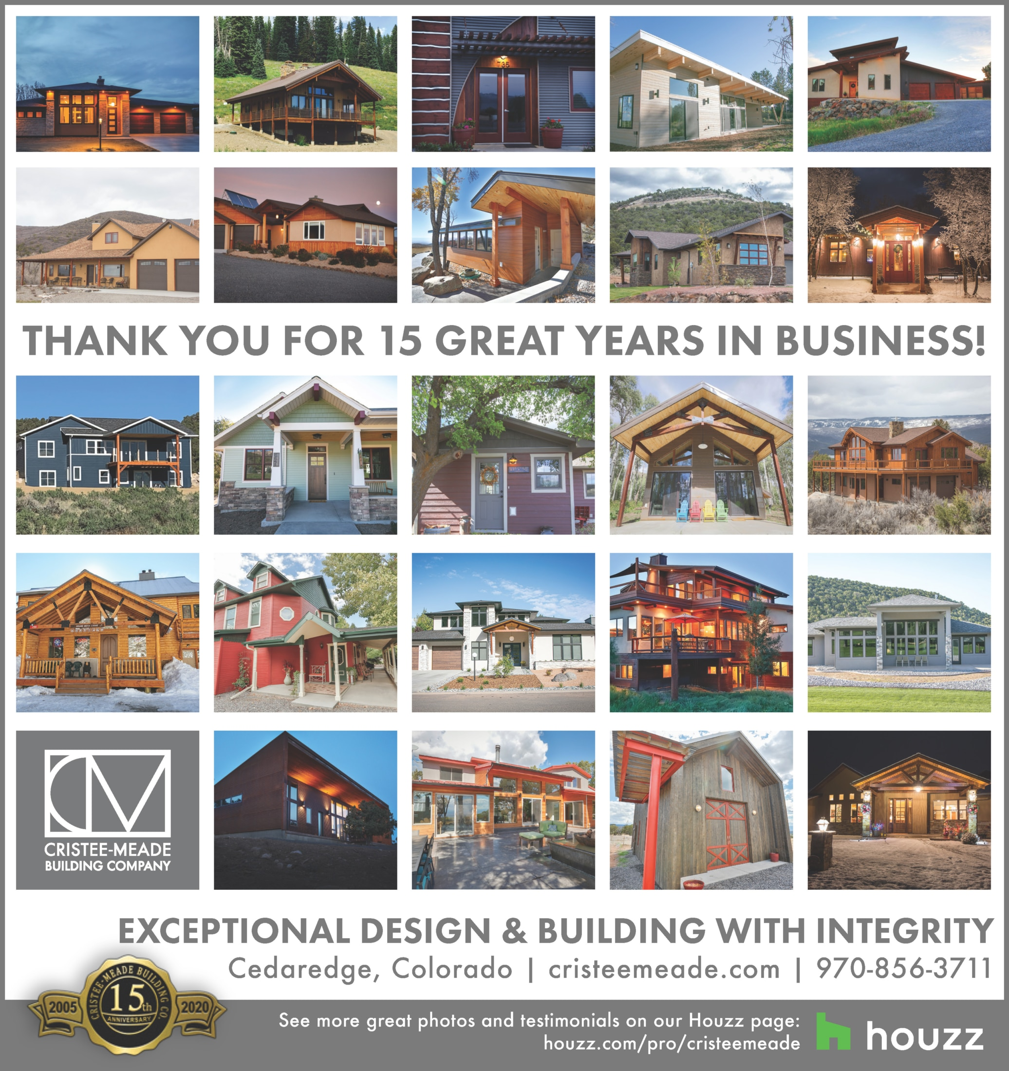 Cristee-Meade Building Company Celebrates 15th Anniversary