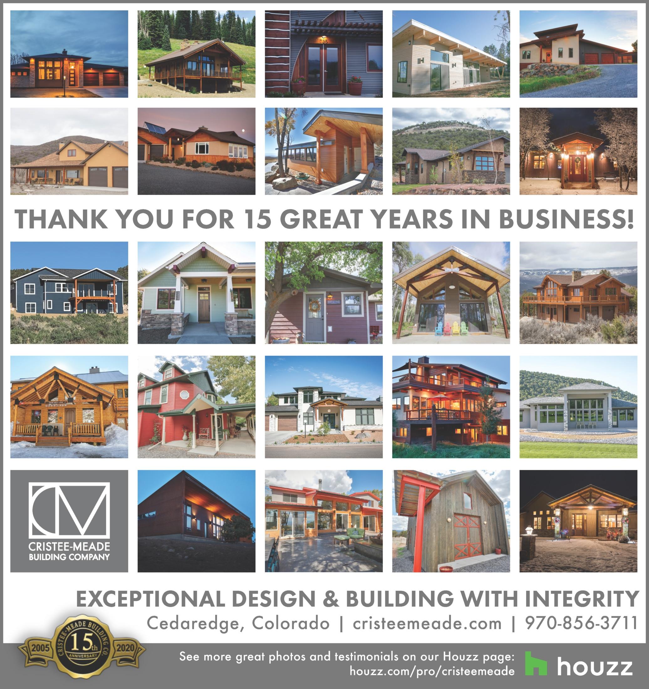Cristee-Meade Building Company Celebrates 15th Anniversary