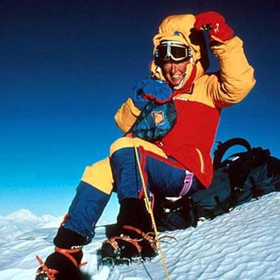 (Photo: Sharon Wood on the summit of Mt. Everest)