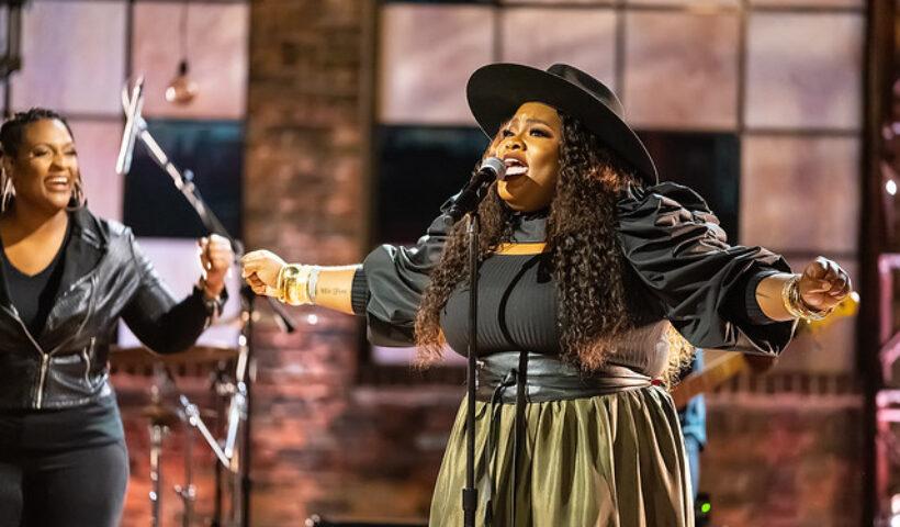 Tasha Cobbs Leonard performs for the 2020 Dove Awards.