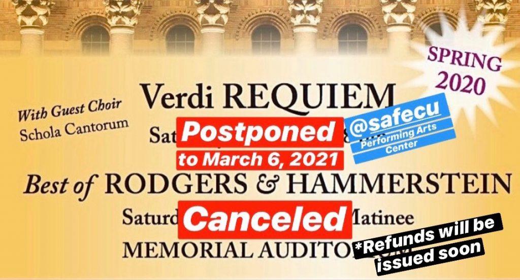 SCSO Spring 2020 Season Canceled