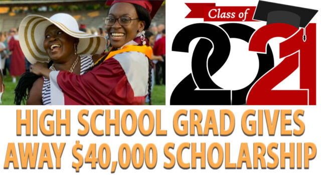 High School Graduate Gives Away $40,000 Scholarship Award