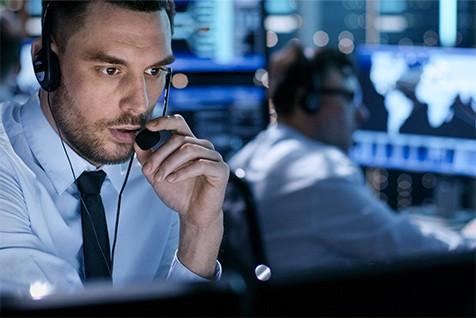 man talking office cyber expert