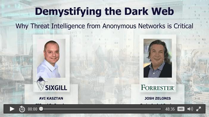 demystifying the dark web threat intelligence webinar