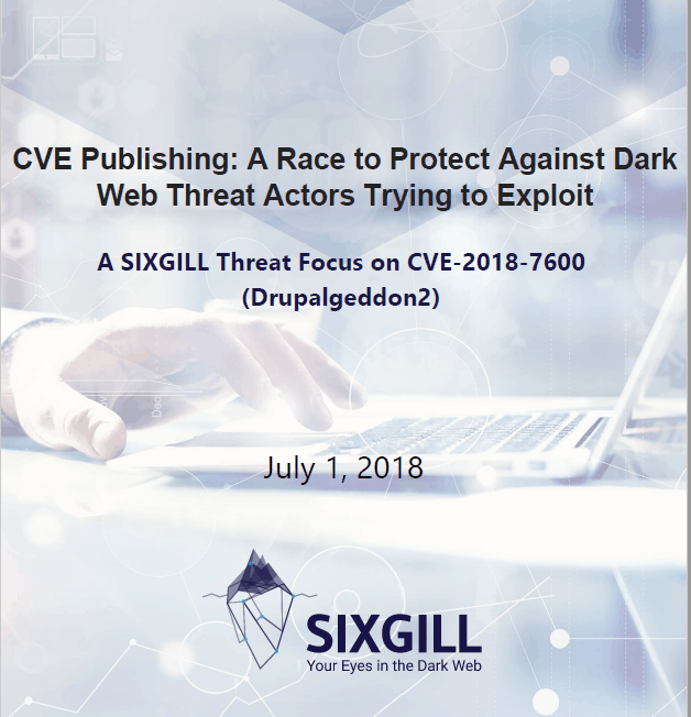 cve publishing dark web threat actors drupalgeddon2