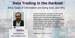 sixgill webinar data trading on the darknet