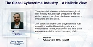 global cybercrim industry sixgill webinar