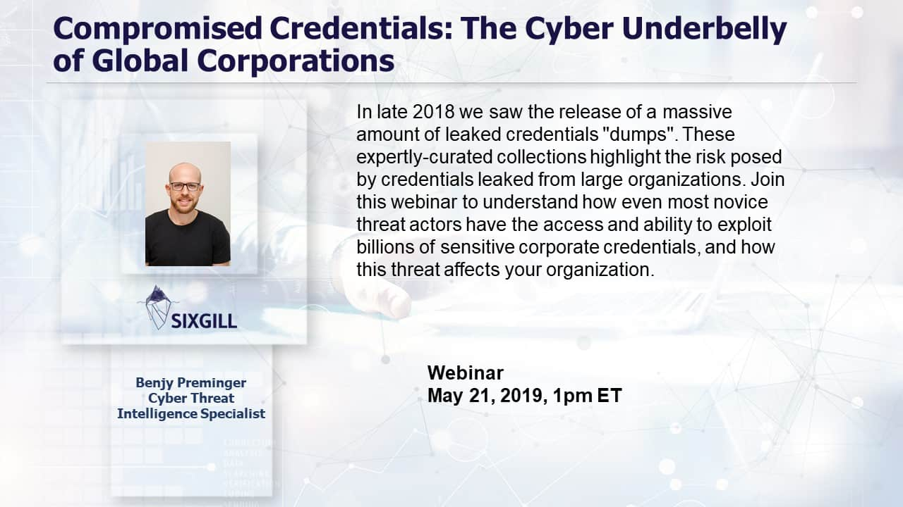 webinar compromised credentials