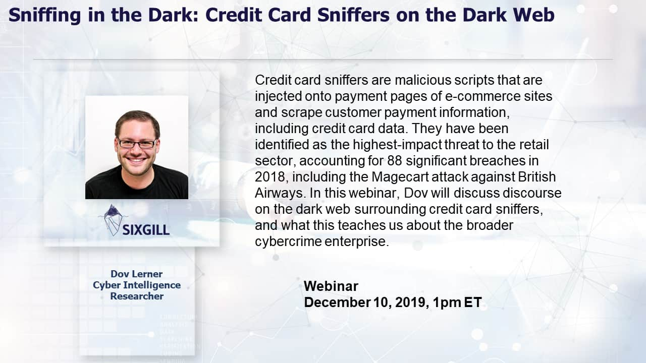 sniffing in the dark webinar sixgill