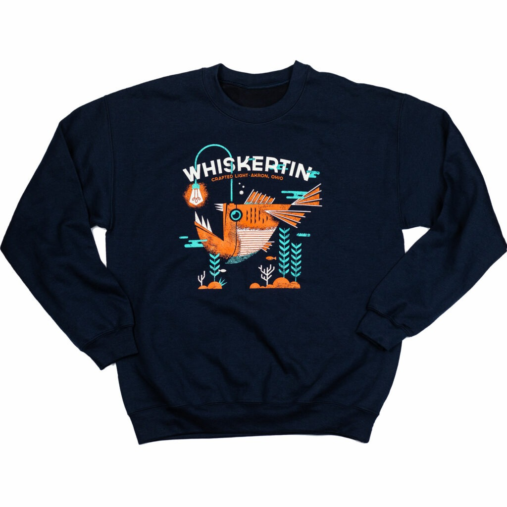 Whiskertin Anglerfish Crew Neck Sweatshirt Navy
