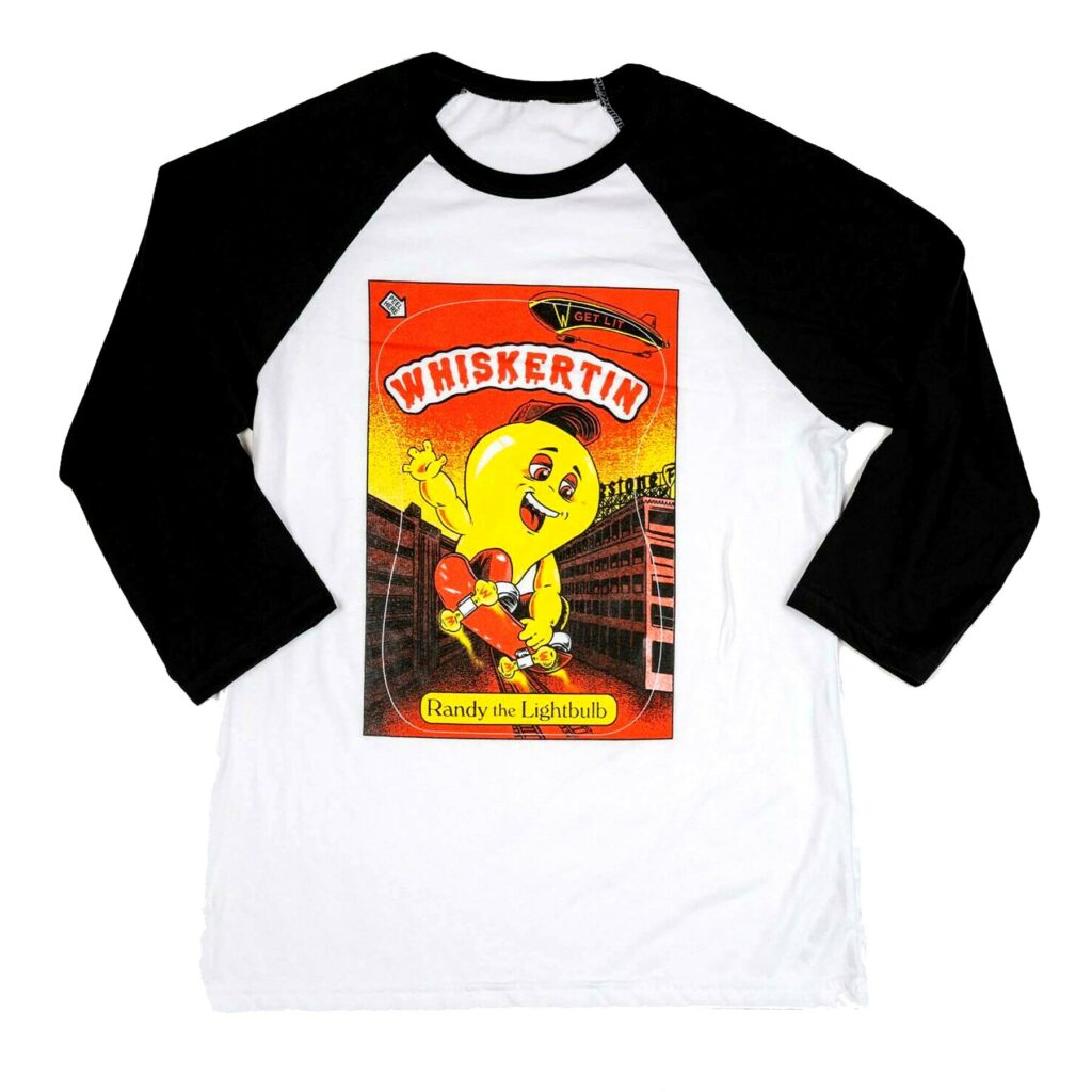 Whiskertin Randy The Lightbulb 3/4 Sleeve Baseball Tee
