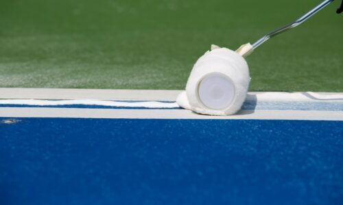 painting tennis court lines