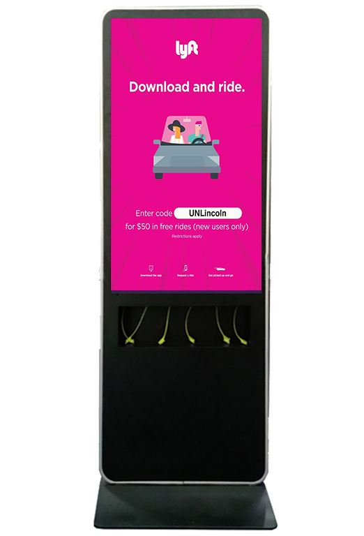 Lyft digital charging station