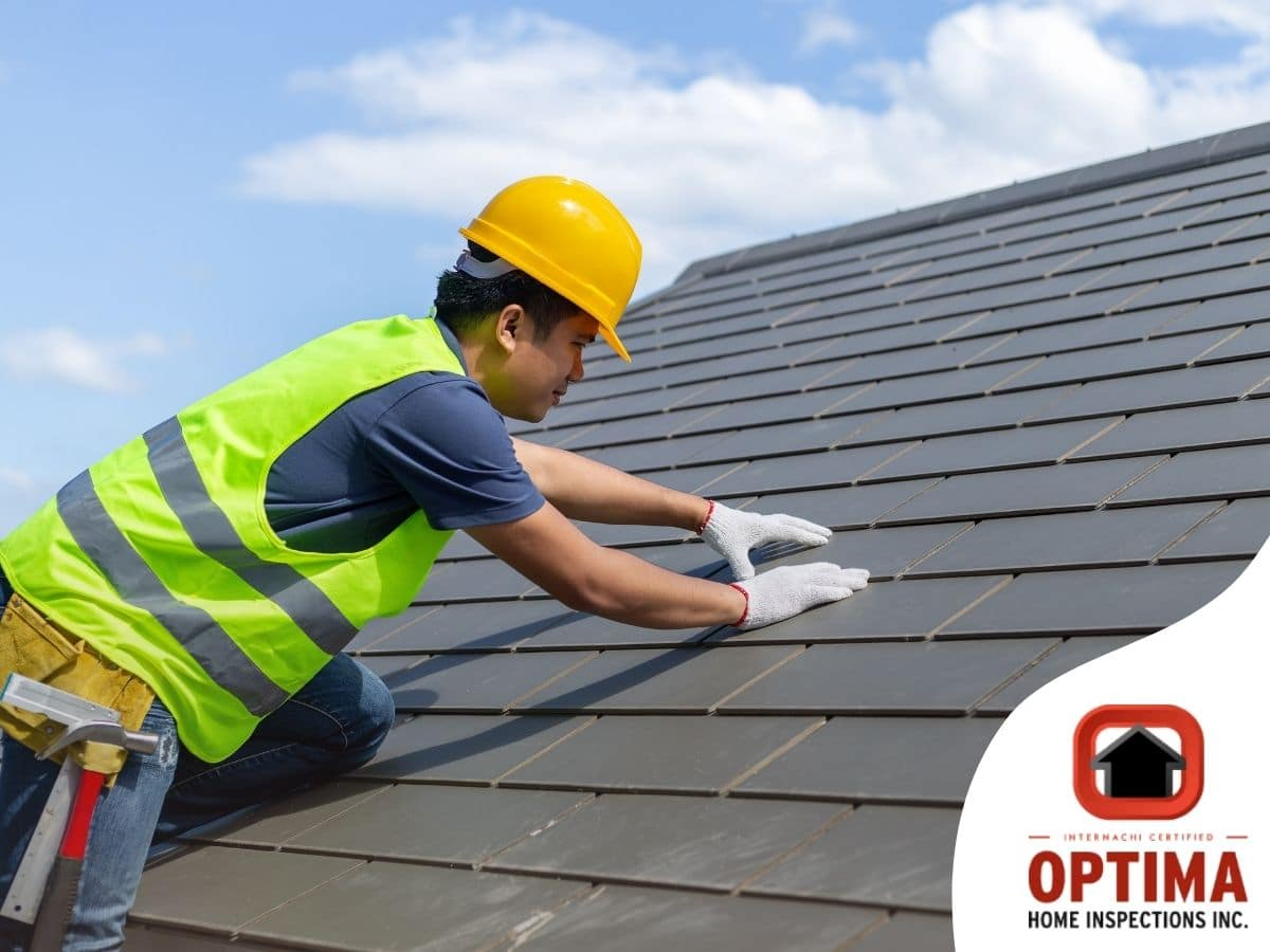 A professional roofer replacing a roof in Poughkeepsie, NY