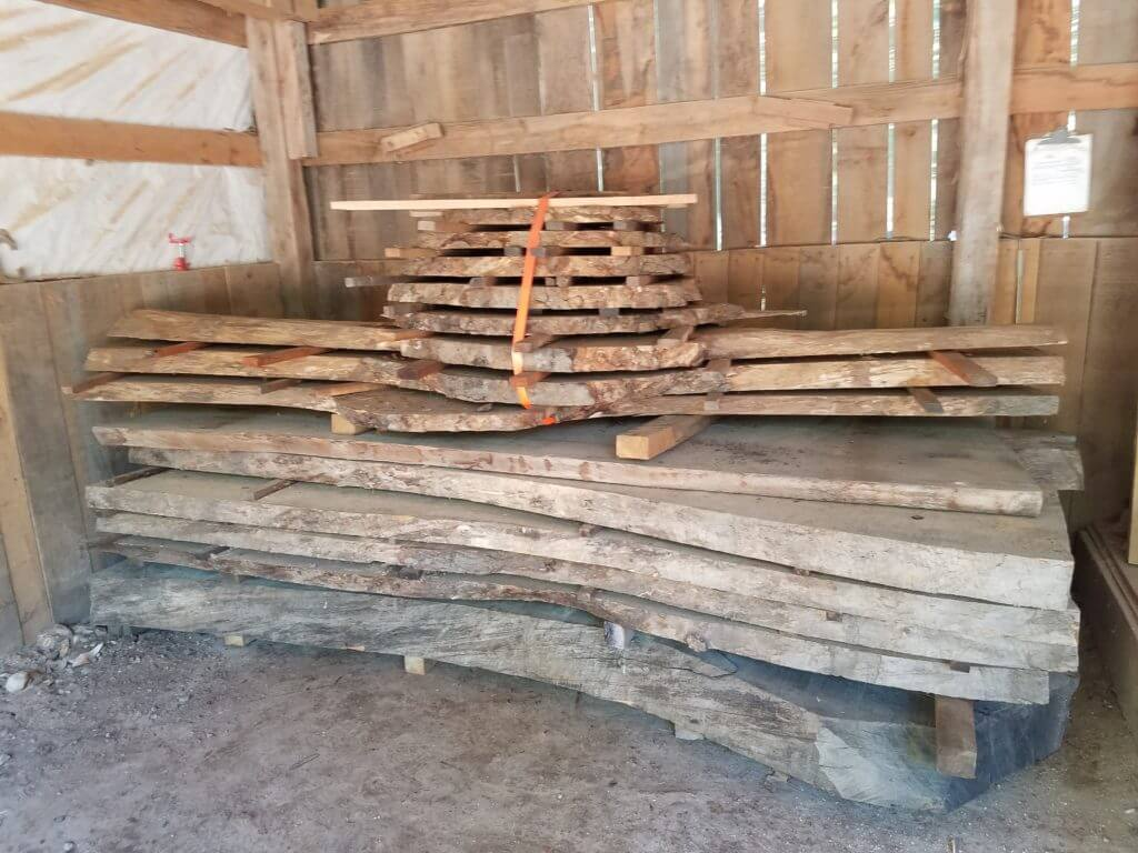 Large live edge slabs of wood for any project
