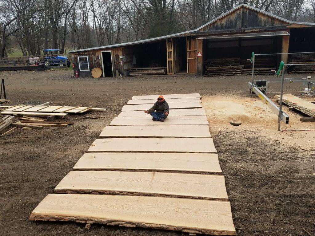 Oak Live edge slabs for a Rustic restaurant