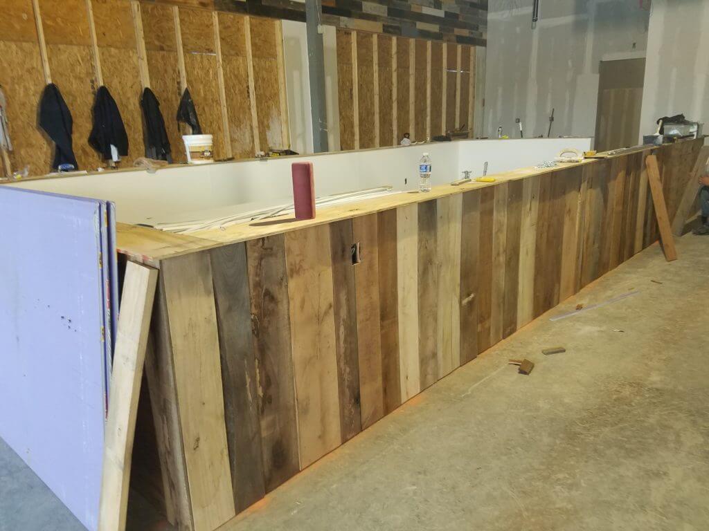 wood walls and bar tops ship lap
