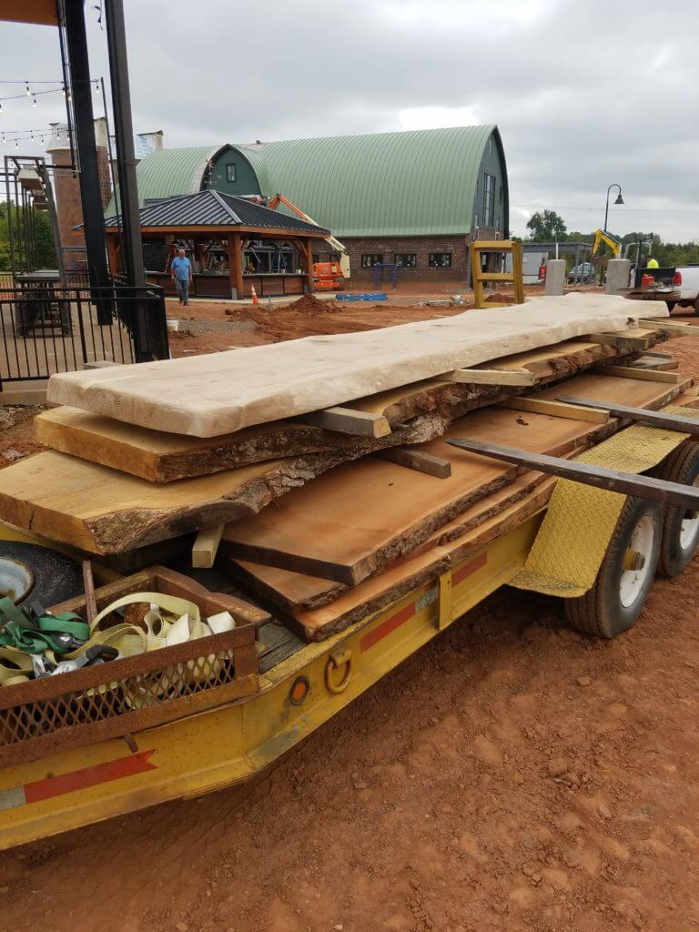Slab delivery at farm brew live