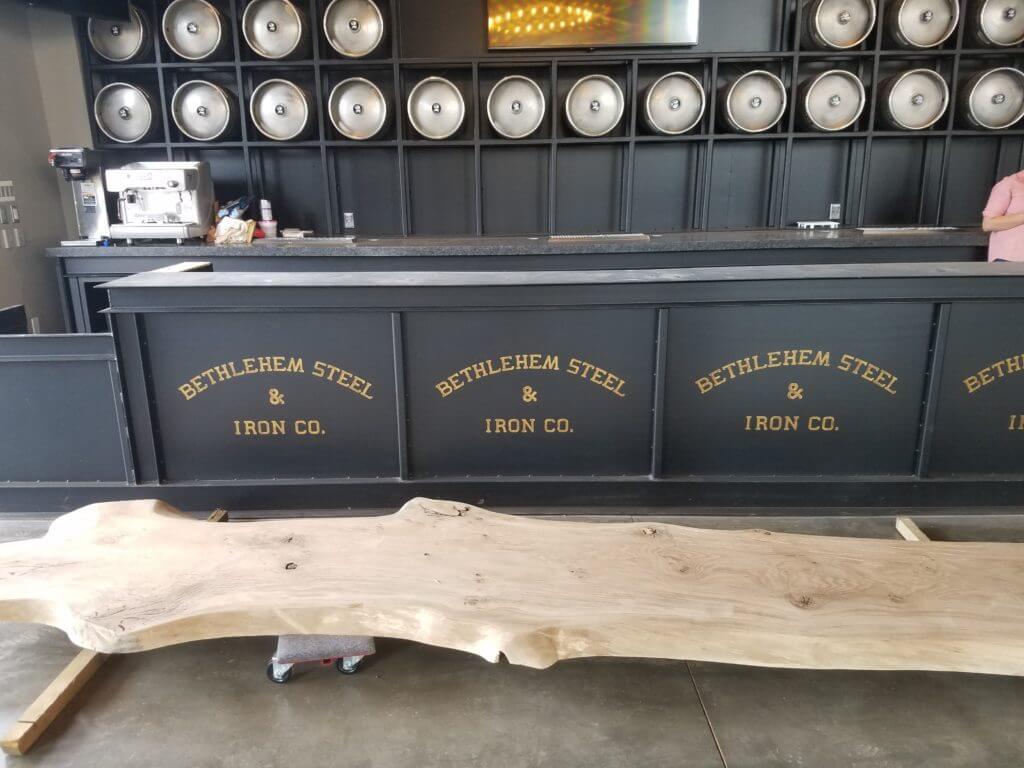 new bar top at 2 silos