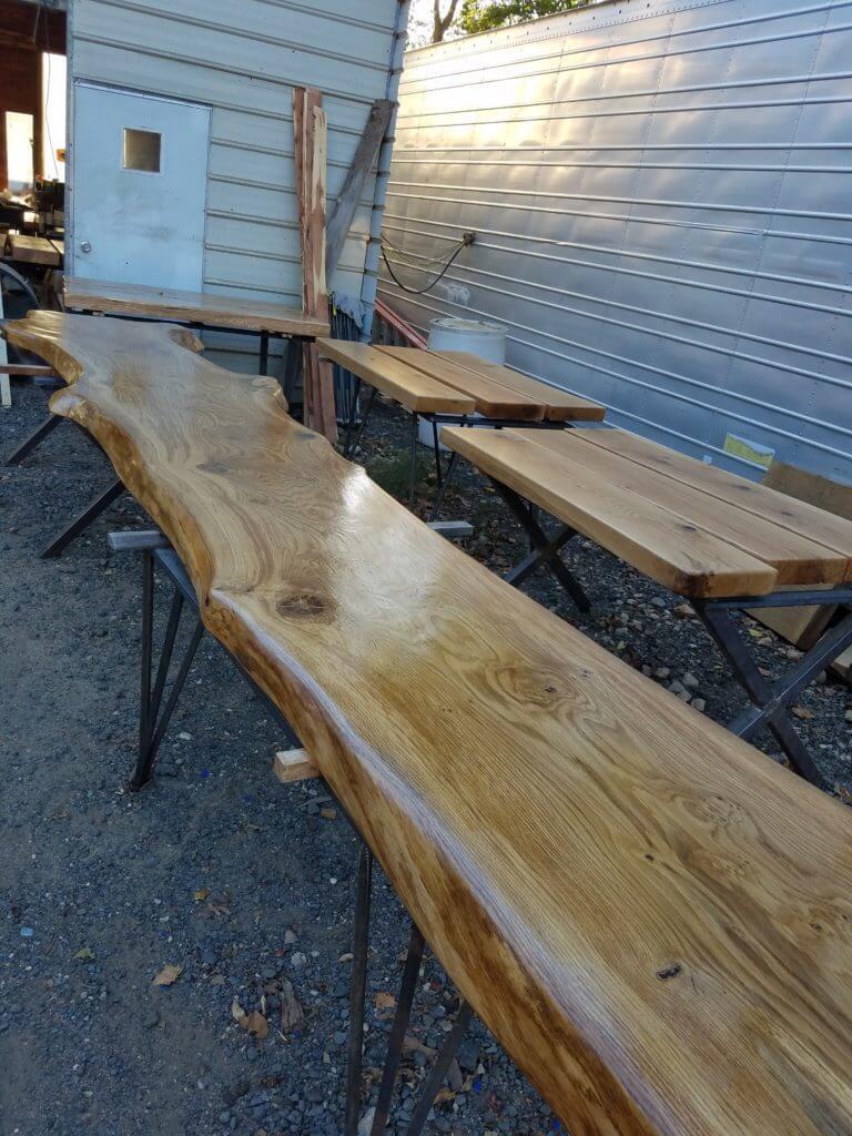 Oak live edge bar tops
