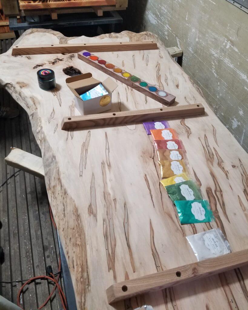 epoxy pour live edge slabs