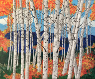 Acrylic-on-Canvas-Aspens-In-The-Fall-24x48