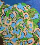 Acrylic-on-Canvas-Blue-Lahar-20x20