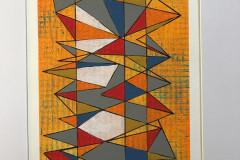 SWoP - Broken Lines VIII - Mixed Media on Paper - PVT Collection