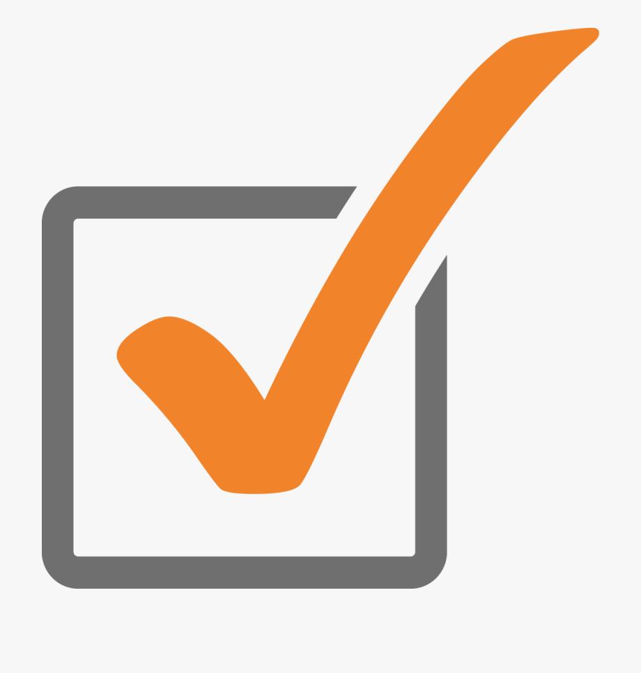 orange checkmark