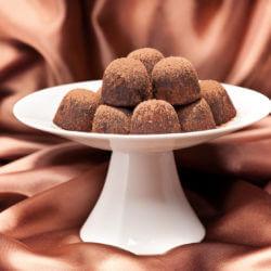 Coconut Walnut Chocolate Truffles