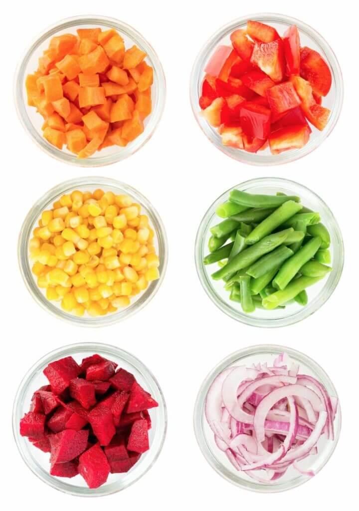 Pre-cut vegetables - Healthy Eating Tips