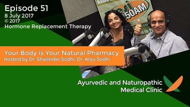 Your Body is Your Natural Pharmacy Episode – 51 – 8 July 2017 – Dr. Shailinder Sodhi, Dr. Anju Sodhi – Hormone Replacement Therapy
