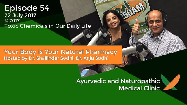 Your Body is Your Natural Pharmacy Episode – 54 – 22 July 2017 – Dr. Shailinder Sodhi, Dr. Anju Sodhi – Toxic Chemicals in Our Daily Life