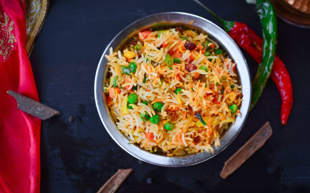 ColorfulSaffron Baked Rice