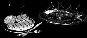 Carne e Pesce Clipart