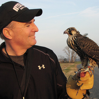 Allen has flown most North American raptors utilized for falconry but his favorite remains the Peregrine Falcon.  Allen has been involved with The Falconry Fund since its' inception and assisted the organization in obtaining its' non-profit status. He is also a Certified Financial Planner® and assists clients with estate planning, charitable giving and legacy planning.