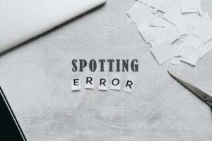 Spotting Errors Questions for NDA