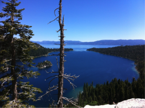 View from the top, mountain hike, Lake Tahoe, CA.