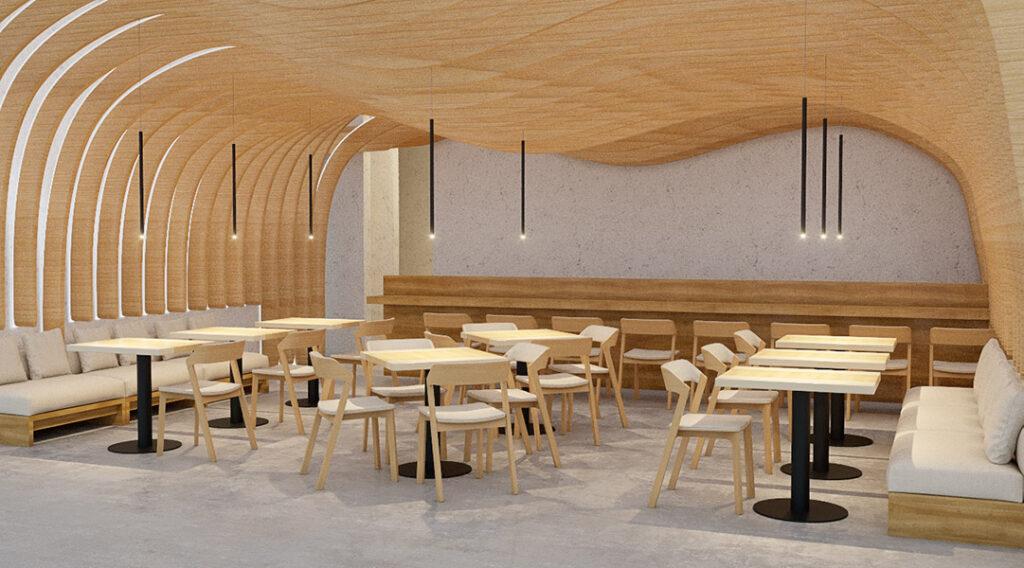 The interior design of Hiyakawa