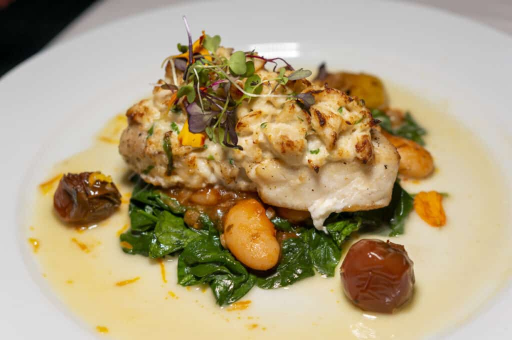 A Fish Called Avalon seafood entree