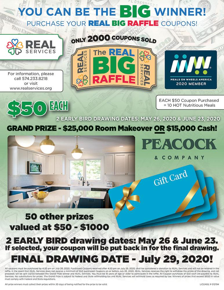 REAL Big Raffle 2020 Flyer