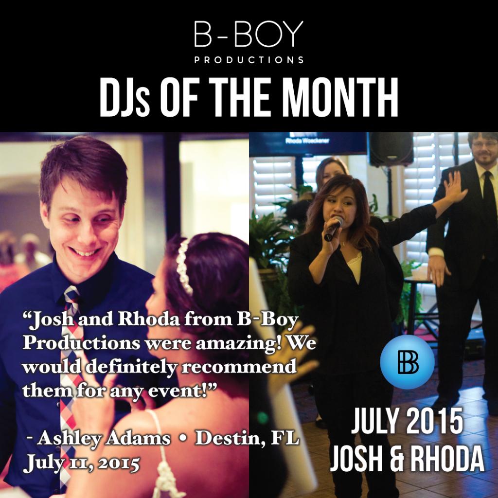 DJ Josh Weck DJ of the month