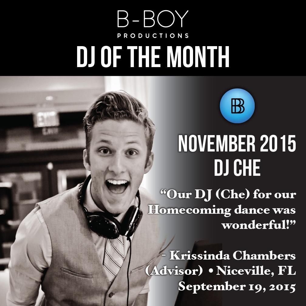 DJ Charles Egstad DJ Of the Month