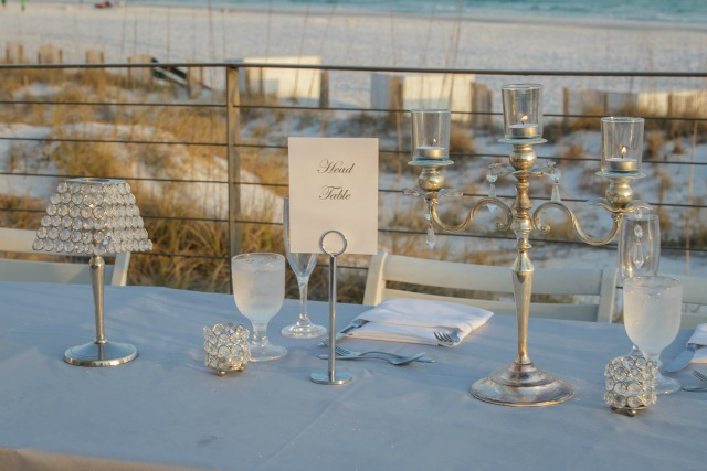 Hilton Sandestin Wedding Table Setting