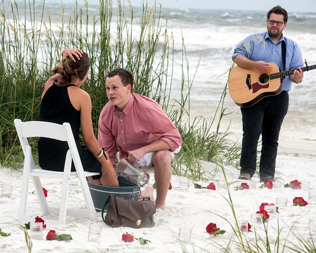 The beachfront marriage proposal where he washed her feet