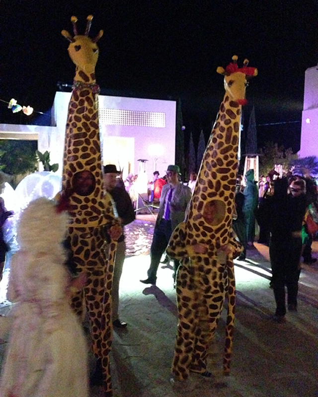 You KNOW it's a party when the giraffes show up!