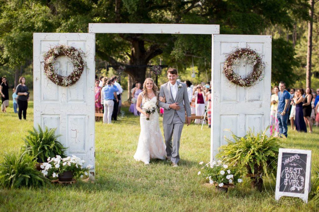 Wedding Ceremony Barn Door Decor